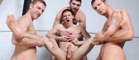 Gay Jock Orgy – Muscle Boys Group Fuck
