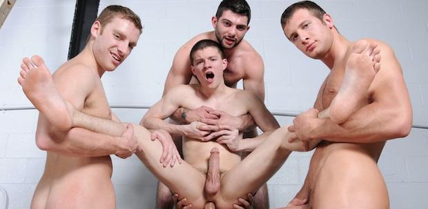 Gay Jock Orgy - Muscle Boys Group Fuck