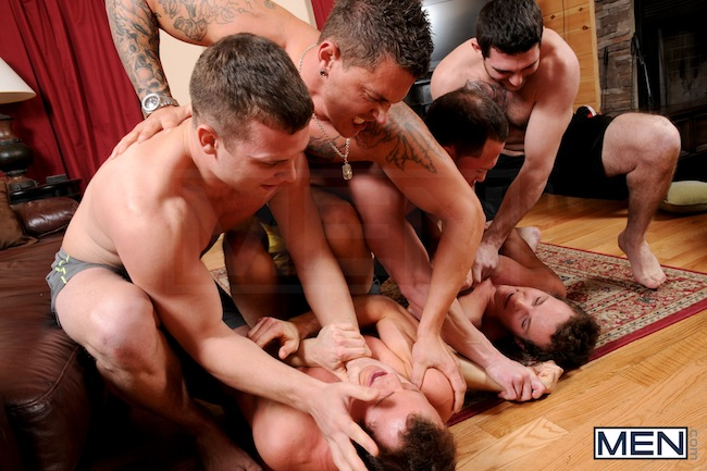 The Rosso Twins get gang fucked (3)