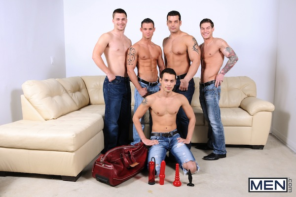 A five man gay jock orgy from the Jizz Orgy site (1)