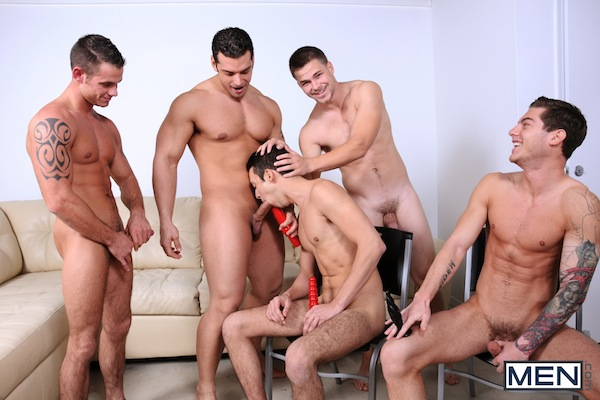 A five man gay jock orgy from the Jizz Orgy site (2)