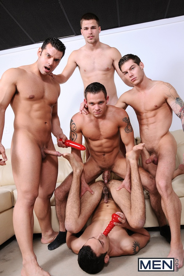 A five man gay jock orgy from the Jizz Orgy site (4)