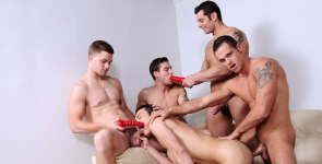 A gay jock orgy for Landon Stone