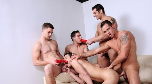 Gay Jock Orgy with Five hot guys