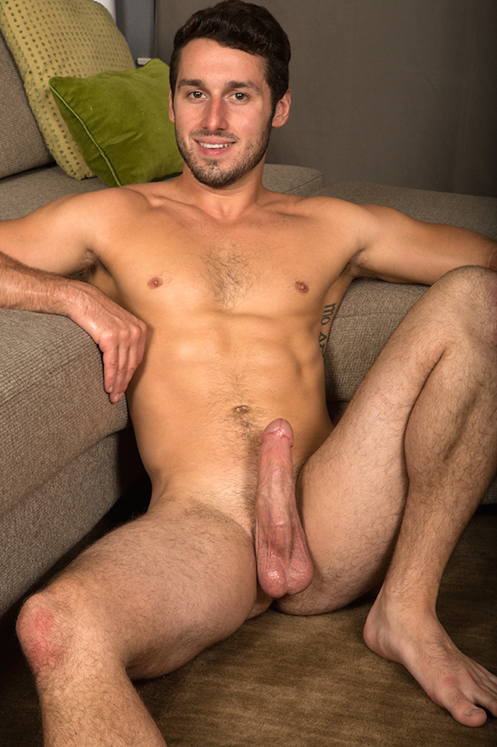 Coty spurting cum from his hard jock cock in a jack off solo 11