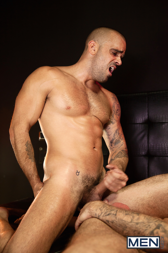 Damien Crosse and Dominique Hansson share a hot gay muscle fuck 12