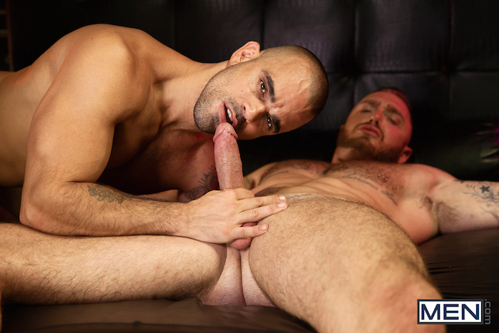 Damien Crosse and Dominique Hansson share a hot gay muscle fuck 2