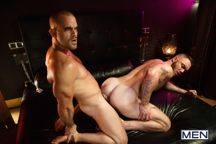 Damien Crosse and Dominique Hansson share a hot gay muscle fuck 4