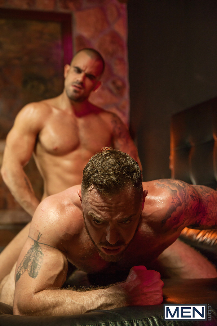 Damien Crosse and Dominique Hansson share a hot gay muscle fuck 5
