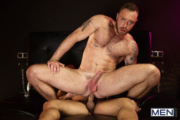 Damien Crosse and Dominique Hansson share a hot gay muscle fuck 6