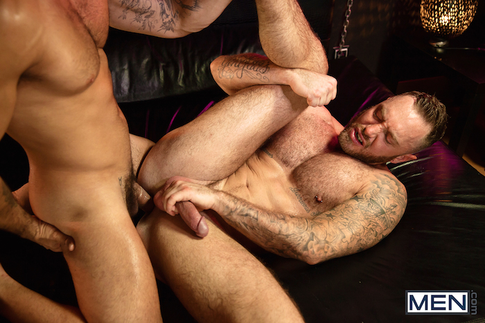 Damien Crosse and Dominique Hansson share a hot gay muscle fuck 8