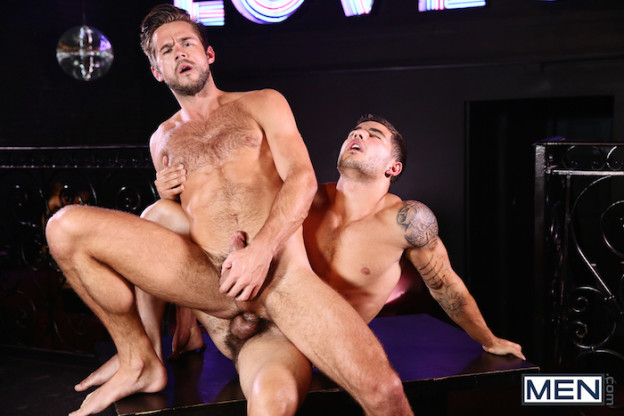 Vadim Black gives his hard jock cock to lucky Mike De Marko 9