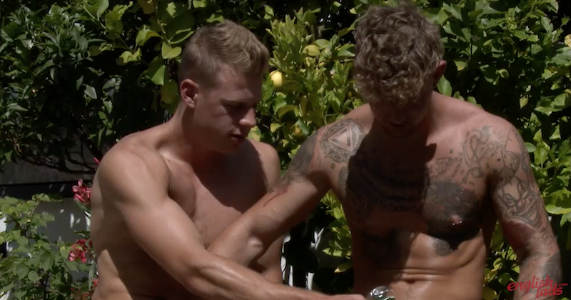 Straight jocks jerking each other off - Danny McCaw and Dan Fellows 4