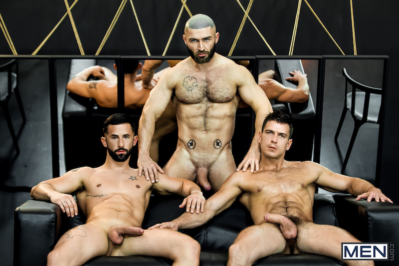 three naked muscle men
