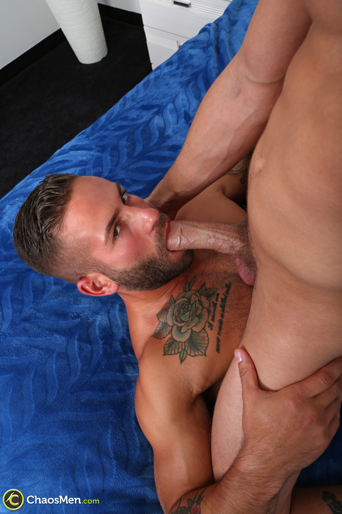 handsome straight guy sucks a big cock