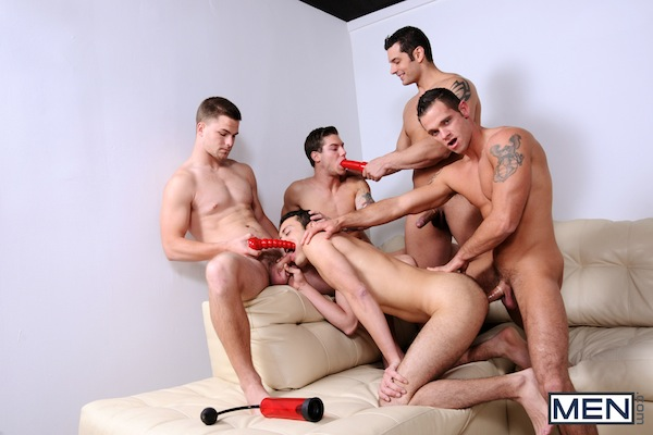 A five man gay jock orgy from the Jizz Orgy site (3)