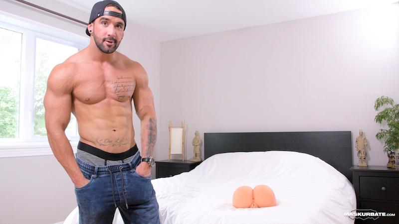 A big uncut cock in a sex toy